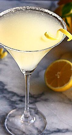 Frosty Lemon Drop Martini