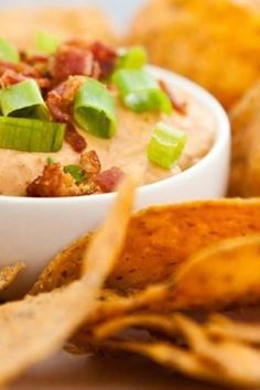 Bacon, barbecue and cheese lovers rejoice! We have the holy grail of savory dips right here—and it's ready in just 15 minutes. This recipe makes a small batch, but it can be easily be doubled or tripled for your game-day gang. To lighten it up a bit, use turkey bacon.