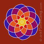 This page provides free Rangoli designs for numerous Hindu Festivals. Rangoli is also known as Kolam, Mandana, Chowk Purna, Alpana, Aripana and Muggu. Rangoli Designs Simple Diwali, Indian Rangoli Designs, Rangoli Designs With Dots, Rangoli With Dots, Beautiful Rangoli Designs, Henna Designs, Traditional Rangoli Design, Mehndi Design Photos, Kolam Rangoli