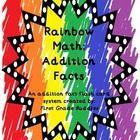 Rainbow Math: Addition Fact Fluency {An Addition Fact Flash Card System}