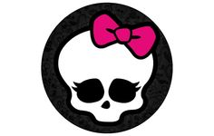 MONSTER HIGH Skull Edible Image Custom CUPCAKE / Cookie toppers  Decoration 12ct. BIrthday  Party Favor. $7.00, via Etsy.