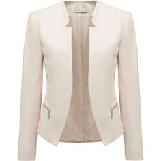 Forever New Milana cut-away blazer featuring polyvore fashion clothing outerwear jackets blazers coats casacos pink tuxedo jacket collarless jacket tuxedo jacket pink tux jacket tuxedo blazer