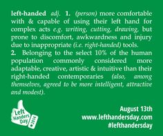 Left Handed Definition