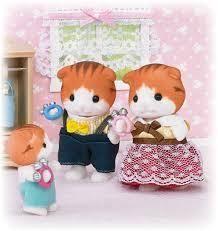 Sylvanian Families Maple Scottish Fold Cats -  Introducing Sylvania's latest Family!