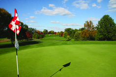 A view from the green at Downers Grove Golf Club
