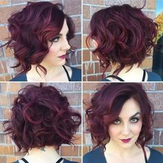 Hair Styles Ideas :   Illustration   Description   Messy Curly Bob Hairstyle – Stylish Office Hairstyles 2016    -Read More –   - #Hairstyle
