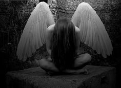 Sad angels are what i am on We Heart It.