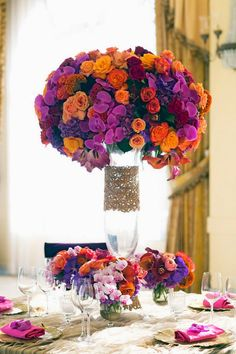 Colorful opulence ~ Sarina Love Photography, Floral Design: Empty Vas | bellethemagazine.com