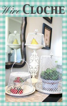 Wire Cloche DIY {Home Decor}