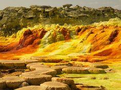 Dallol Volcano, Danakil Desert, Ethiopia, Africa