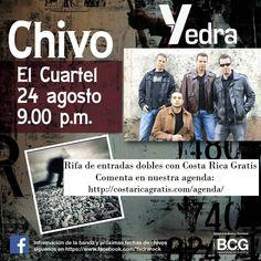 Rifa de entradas para Yedra! Solo hay que poner un comentario el nuestra Agenda: costaricagratis.com/agenda