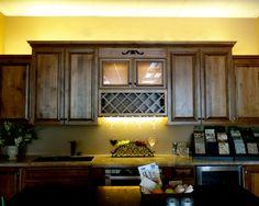 kitchen showroom illuminated with warm white LEDs
