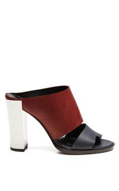Tricolor Burgundy Mule by Pierre Hardy for Preorder on Moda Operandi