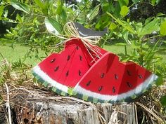 Summer Watermelon Slices by PaintspotsnSplinters on Etsy, $10.95