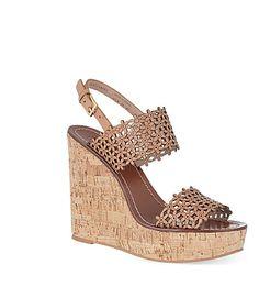 TORY BURCH Daisy wedge sandals (Tan