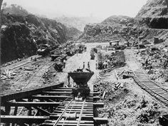 Inicios de la construcción del Canal de Panamá - Beginning of the construction of the Panama Canal- Foto: La Estrella de Panamá