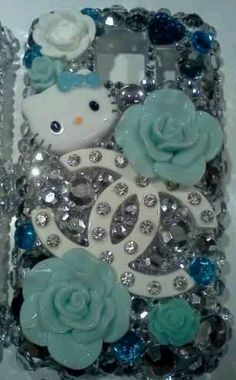 Hello kitty phone case I made