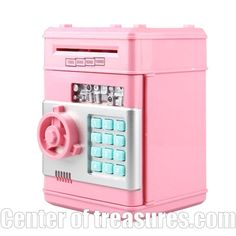 Digital Piggy Bank - Safe Deposit Box For Kids Electronic Piggy Bank Atm Mini Money Box Safety Password Chewing Coin Cash Machine 5 Minute Crafts Videos, Craft Videos, Bank Safe Deposit Box, Diy For Kids, Gifts For Kids, Large Piggy Bank, American Girl Doll Sets, Kids Electronics, Tween Girl Gifts