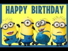 happy birthday minions - Google Search