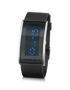 The futuristic style of the Avatar collection is accentuated by its silicone strap and unique digital display. Signature box included. Italian design.