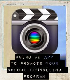 Use your ipad and an app to help promote your school counseling program!