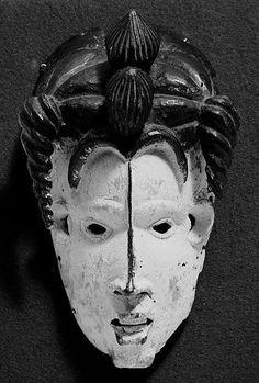 Mask: Female (Mmuo) 19th–20th century Geography: Nigeria Culture: Igbo peoples, Isu-Ama group Medium: Wood, kaolin, pigments Dimensions: H. 9 5/16 x W. 5 3/4 x D. 4 1/4 in. (23.7 x 14.6 x 10.8 cm)
