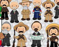 60% de desc. Revolución Mexicana Clipart, Imágenes México, Ilustraciones Revolución Mexicana Set 110