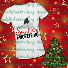 Christmas # 33-8 x 10 T-shirt iron-on transfer Santa with crawfish