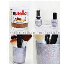 Ig- diy_and_ideas #nutella#makeup#holder