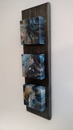 Abstract Acrylic Wall Art - Acrylic Pour Painting in Custom Wood Frame - find it on Etsy- SOLD