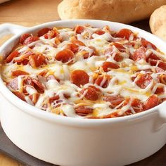 Slow cooker pepperoni pizza dip recipe.Creamy pizza dip cooked in slow cooker. Use 1½ quart (1½L) slow cooker for this delicious recipe.