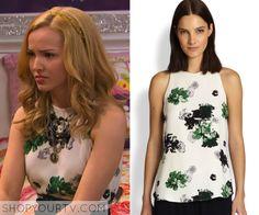 Liv & Maddie: Season 2 Episode 18 Liv's White Floral Print Top