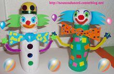 Clown réalisé avec une petite bouteille de yaourt à boire