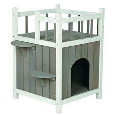 Trixie Outdoor Katzenhaus Catu0027s Home Mit Balkon 44093