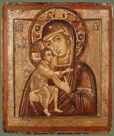 Икона «Богоматерь Фёдоровская»  31Х26,5 Кострома  XVIIIв.