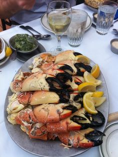 A cold seafood buffet is easy to prepare and perfect nibbles for your beach wedding reception (or family reunion) at Moontide on New Smyrna Beach http://TheMoontide.blogspot.com