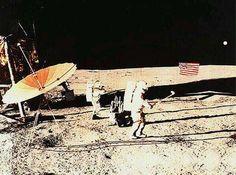 Alan Shepard playing golf on the moon, 1971.