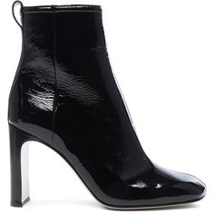 Rag & Bone Patent Leather Ellis Boot ($595) ❤ liked on Polyvore featuring shoes, boots, ankle boots, side zipper boots, leather sole boots, patent ankle boots and leather sole shoes