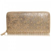 Portemonnee met subtiele sterretjes - brons goud kleurig