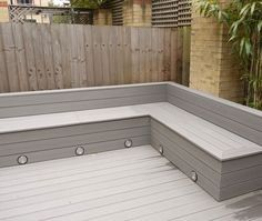 wood deck seating - Google Search