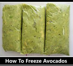 How to FREEZE Avocados! I never knew, this will definitely come in handy. I love avacados and would buy more of them but I'm sure most would go bad before I used them up. Winter avacados are so expensive so freeze them while in harvest season. Freezing Vegetables, Freezing Fruit, Fruits And Veggies, Freezing Lemons, Freezer Cooking, Freezer Meals, Cooking Tips, Cooking Recipes, Avocado Dessert