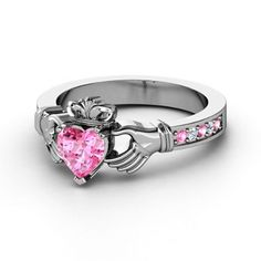 I'd like this but with blue sapphire (claddagh ring)