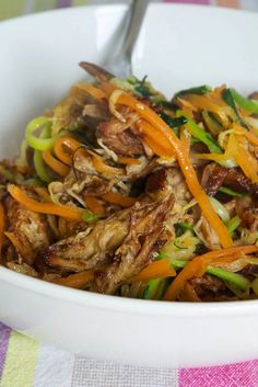 Pulled Pork and Zoodles (AIP) / Comfort Bites Blog