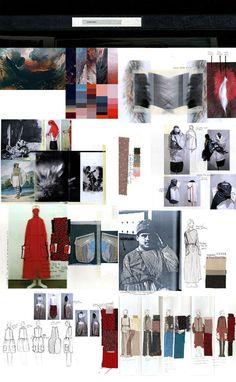Fashion Portfolio - fashion design research & development for a post apocalyptic fashion collection inspired by historical garments; fashion sketchbook // Kieran Ho