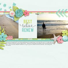 Layout using {Seaside Spa} Digital Scrapbook Kit by Digital Scrapbook Ingredients available at Sweet Shoppe Designs http://www.sweetshoppedesigns.com/sweetshoppe/product.php?productid=31541&cat=768&page=3 #digitalscrapbookingredients