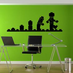 Lego Wall decal Evolution puzzle blocks door BeaCreativeDesigner
