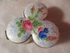 Lot of Six Lovely Flower Pins Vintage Destash Crafts by KulturePop