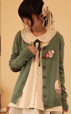 2013 mori girl autumn and winter fashion new and trend cute Japanese style cardigans cute knitting wool women floral coat-inCardigans from Apparel & Accessories on Aliexpress.com