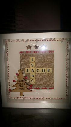 Christmas Scrabble Frame