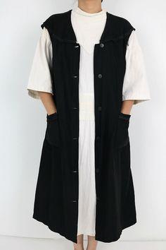 295abdee23a Image 2   France  sleeveless black work dress around the 1940 s ...